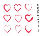 heart shapes set  romantic... | Shutterstock .eps vector #565686829
