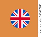 uk flag icon. flat design | Shutterstock .eps vector #565692988