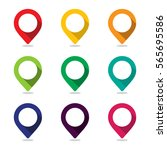 set of icon pointer map  pin ... | Shutterstock .eps vector #565695586