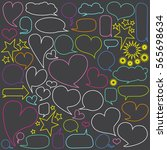 collection of  speech bubbles.... | Shutterstock .eps vector #565698634