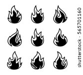 flames icons | Shutterstock .eps vector #565701160