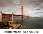 golden gate bridge  san... | Shutterstock . vector #565701340