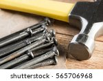 home repair concept with hammer ... | Shutterstock . vector #565706968