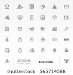 set business icon line vector... | Shutterstock .eps vector #565714588