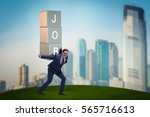 businessman carrying the burden ...   Shutterstock . vector #565716613