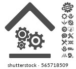 workshop icon with bonus tools... | Shutterstock .eps vector #565718509