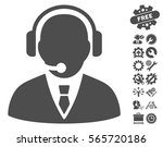 support manager icon with bonus ... | Shutterstock .eps vector #565720186