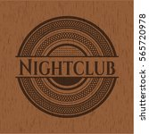 nightclub badge with wood...   Shutterstock .eps vector #565720978