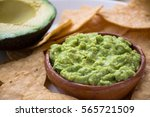 Guacamole Dip And Tortilla Chips