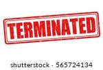 terminated grunge rubber stamp...   Shutterstock .eps vector #565724134