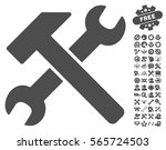 hammer and wrench pictograph...   Shutterstock .eps vector #565724503