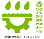 water gear drops pictograph... | Shutterstock .eps vector #565727470