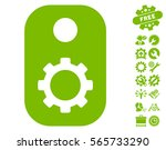 gear tag icon with bonus tools... | Shutterstock .eps vector #565733290