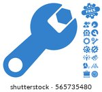 wrench pictograph with bonus...   Shutterstock .eps vector #565735480