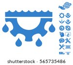 water gear drops icon with... | Shutterstock .eps vector #565735486
