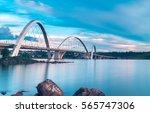 jk bridge and paranoa lake in...   Shutterstock . vector #565747306