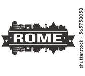 rome skyline stamp silhouette... | Shutterstock .eps vector #565758058