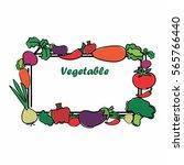 fruit   veggie post card.... | Shutterstock .eps vector #565766440
