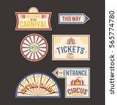 circus vintage label banner... | Shutterstock .eps vector #565774780