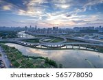 shanghai interchange overpass...   Shutterstock . vector #565778050