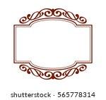 decorative frames .vintage... | Shutterstock .eps vector #565778314