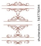 set of calligraphic frames ... | Shutterstock .eps vector #565778344