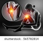 3d illustration of women knee... | Shutterstock . vector #565782814