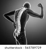 3d illustration of male feeling ... | Shutterstock . vector #565789729