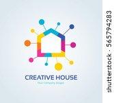 creative house logo template. | Shutterstock .eps vector #565794283
