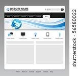 editable web template   vector | Shutterstock .eps vector #56580022