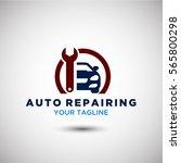 auto repairing logo vector.... | Shutterstock .eps vector #565800298
