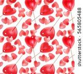 seamless pattern for valentine... | Shutterstock .eps vector #565805488