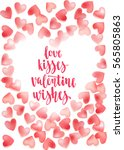 valentine's day quote. romantic ... | Shutterstock .eps vector #565805863