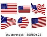 american flag set | Shutterstock . vector #56580628