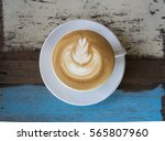 cafe latte on art | Shutterstock . vector #565807960