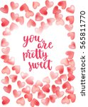 valentine's day quote. romantic ... | Shutterstock .eps vector #565811770