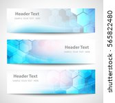 vector banner abstract... | Shutterstock .eps vector #565822480