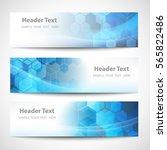 vector banner abstract... | Shutterstock .eps vector #565822486