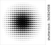 vector retro style dotwork... | Shutterstock .eps vector #565824508