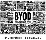 byod   bring your own device... | Shutterstock . vector #565826260