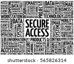 secure access word cloud concept | Shutterstock . vector #565826314