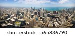 panoramic view of downtown... | Shutterstock . vector #565836790