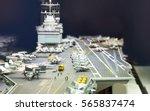 miniature model of aircraft... | Shutterstock . vector #565837474
