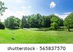 fresh meadow landscape. | Shutterstock . vector #565837570
