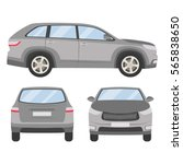 car vector template on white... | Shutterstock .eps vector #565838650