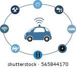 autonomous vehicle concept... | Shutterstock .eps vector #565844170