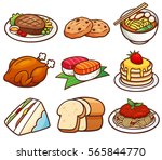 vector illustration of food set | Shutterstock .eps vector #565844770