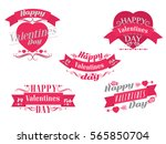 happy valentines day... | Shutterstock .eps vector #565850704