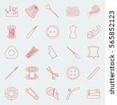 thin lines sewing icons set   Shutterstock .eps vector #565852123