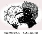 beautiful artwork of young... | Shutterstock .eps vector #565853020